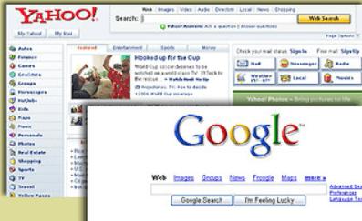 Comparativa Yahoo vs Google